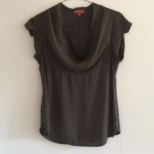 Anthropologie Low cowl neck blouse